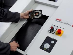 HSM Powerline HDS 230 - skartovací stroj HDD, CD, DVD, FLASH